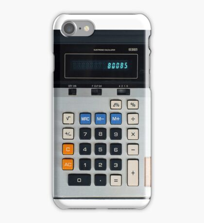 Old School 80s Calculator iPhone Case