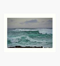 The Wild Atlantic Ocean of the coast of Doolin, Co Clare, Ireland Art Print