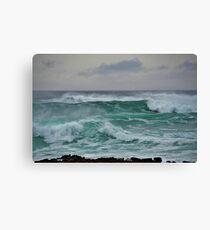 The Wild Atlantic Ocean of the coast of Doolin, Co Clare, Ireland Canvas Print