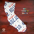 California License Plate Map by designturnpike