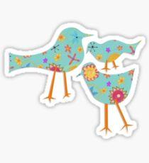 Flowers Birds Sticker