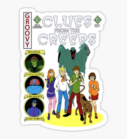 Clues From the Creeps Sticker
