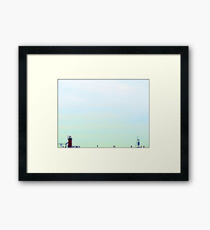 South Haven, MI | North Beach 2 Framed Print