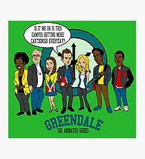 Greendale the Animated Series Photographic Print