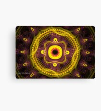 Harmony in Yellow and Purple Canvas Print