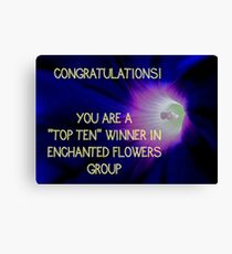 Banner - Enchanted Flowers Top Ten Winner Canvas Print