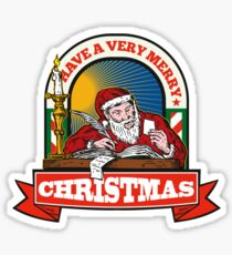 Santa Claus Father Christmas Writing Letter Sticker