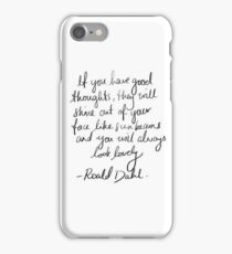 Roald Dahl inspirational tumblr quote merch! iPhone Case/Skin