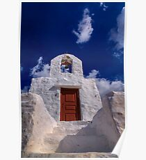 Small traditional Greek chapel Poster