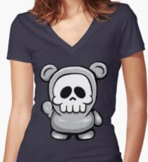 Death Bear Women's Fitted V-Neck T-Shirt