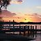 Jetties or Piers at Sunset