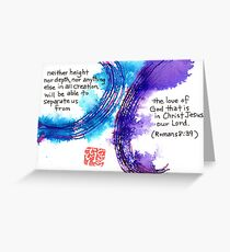 Neither Height nor Depth Greeting Card