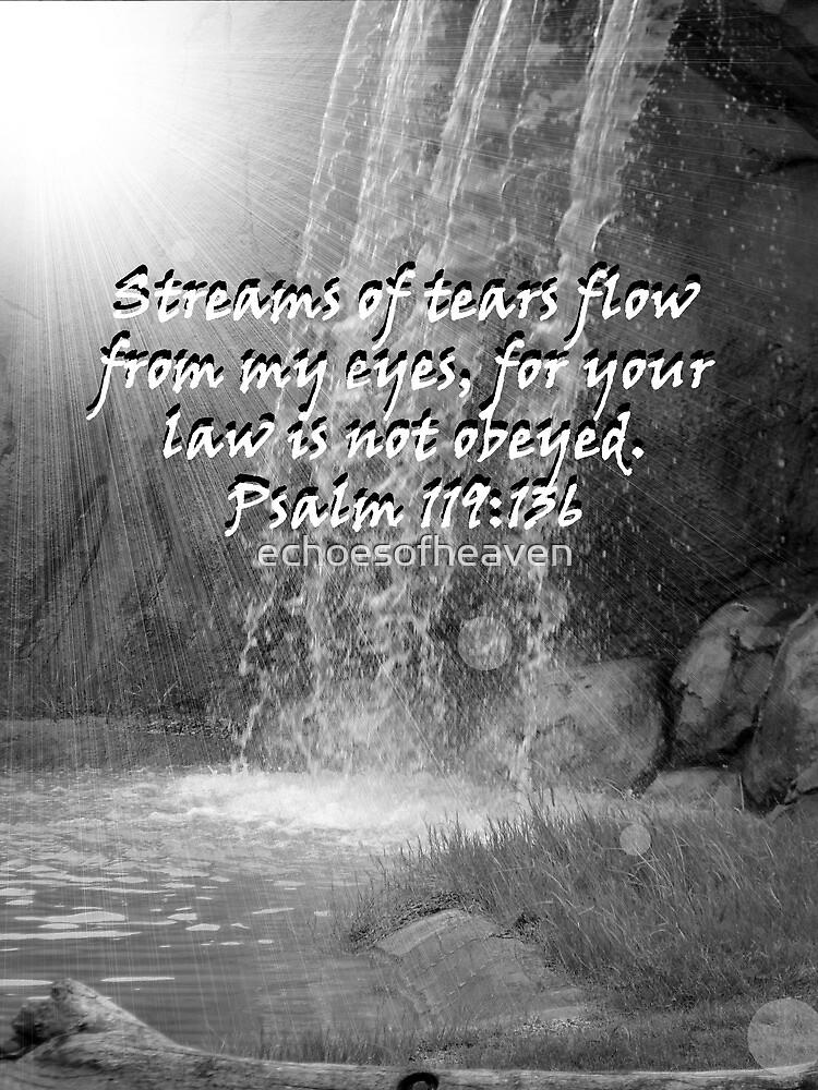 """""""Psalm 119:136""""  by Carter L. Shepard by echoesofheaven"""