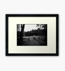 Golfers & Golf Carts Framed Print