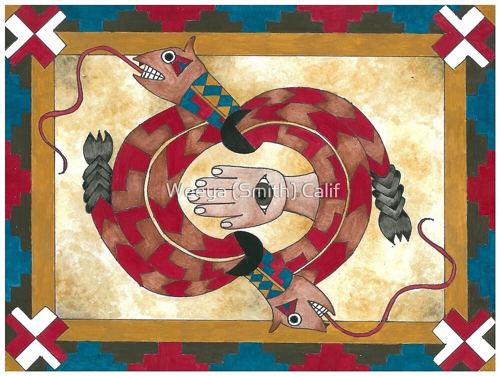 Rattlesnake Disc by Weeya (Smith) Calif