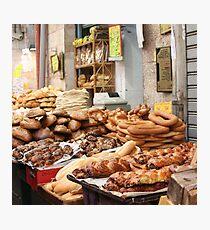 Bread, Mahane Yehuda Market, Jerusalem Photographic Print