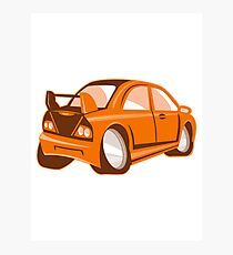 Cartoon style sports car isolated Photographic Print