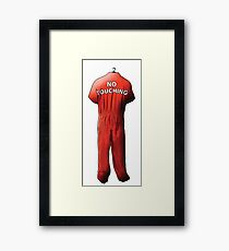 No Touching Framed Print