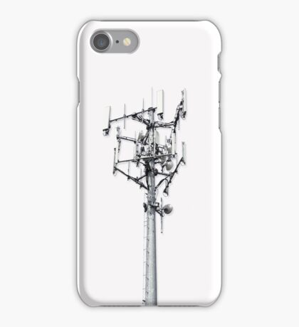 Cell Tower on White iPhone Case/Skin