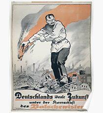Deutschlands ideale Zukunft unter der Herrschaft des Bolschewisten 1154 Poster
