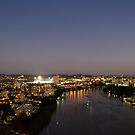 Brisbane River at Twilight #3 by MeganRizzoPhoto