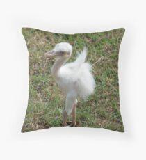 Blue Eyed Baby Bird - At Lake Tobias Throw Pillow