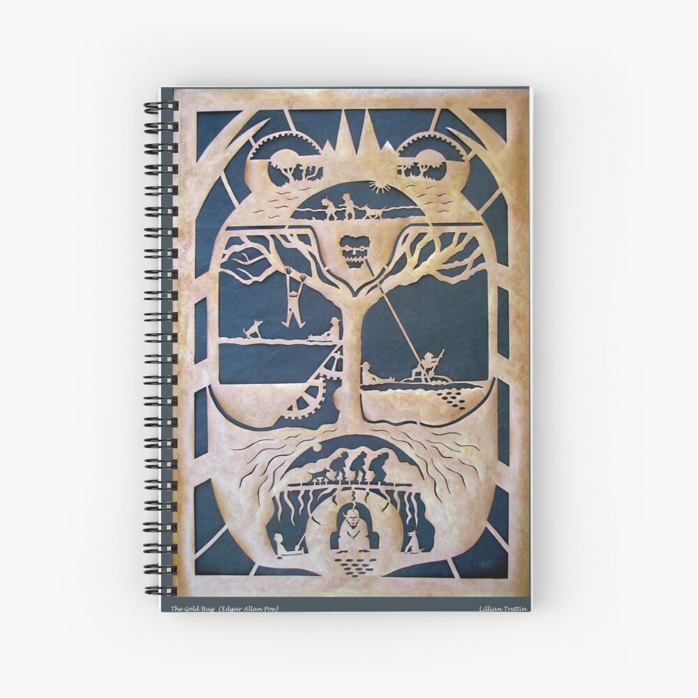 The Gold Bug in Copper Spiral Notebook
