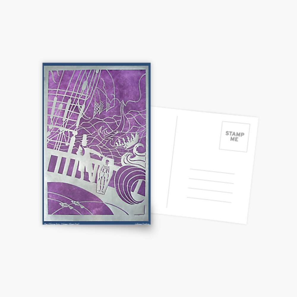 The Oblong Box in Silver Postcard