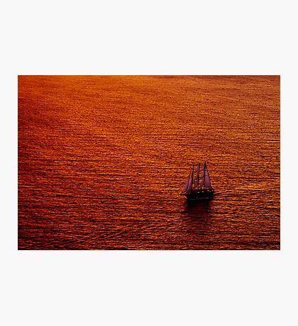 On Golden Water Photographic Print