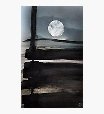 The moon beyond Photographic Print
