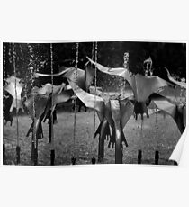 Stainless Steel Flock Poster