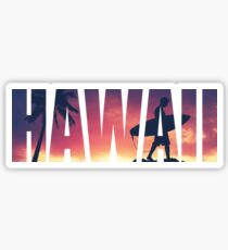 Vintage Filtered Hawaii Postcard Sticker
