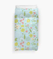 Blossom Time - Spring Blue  Duvet Cover