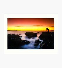 Photographer Silhouette  Art Print
