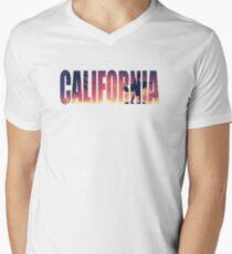 Vintage Filtered California Postcard Men's V-Neck T-Shirt