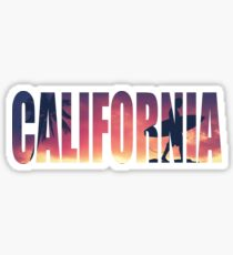 Vintage Filtered California Postcard Sticker