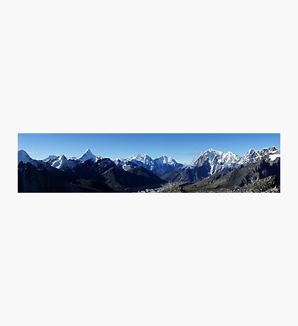 Panoramic from Everest Base camp Photographic Print