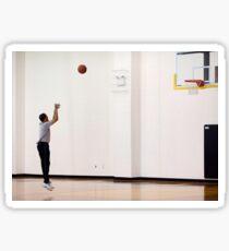 Obama s'ebtraîne au basket. Sticker