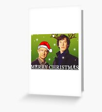 Sherlock Holmes merry Christmas merchandise  Greeting Card