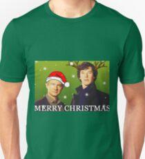 Sherlock Holmes merry Christmas merchandise  T-Shirt