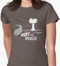 Nuke The Whales Women's Fitted T-Shirt
