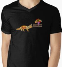 The Fox and the Vineyard Men's V-Neck T-Shirt