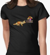 The Fox and the Vineyard Women's Fitted T-Shirt
