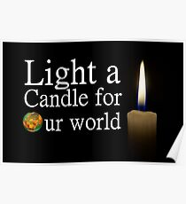 light a candle for our world Poster