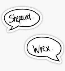 shepard. wrex. Sticker