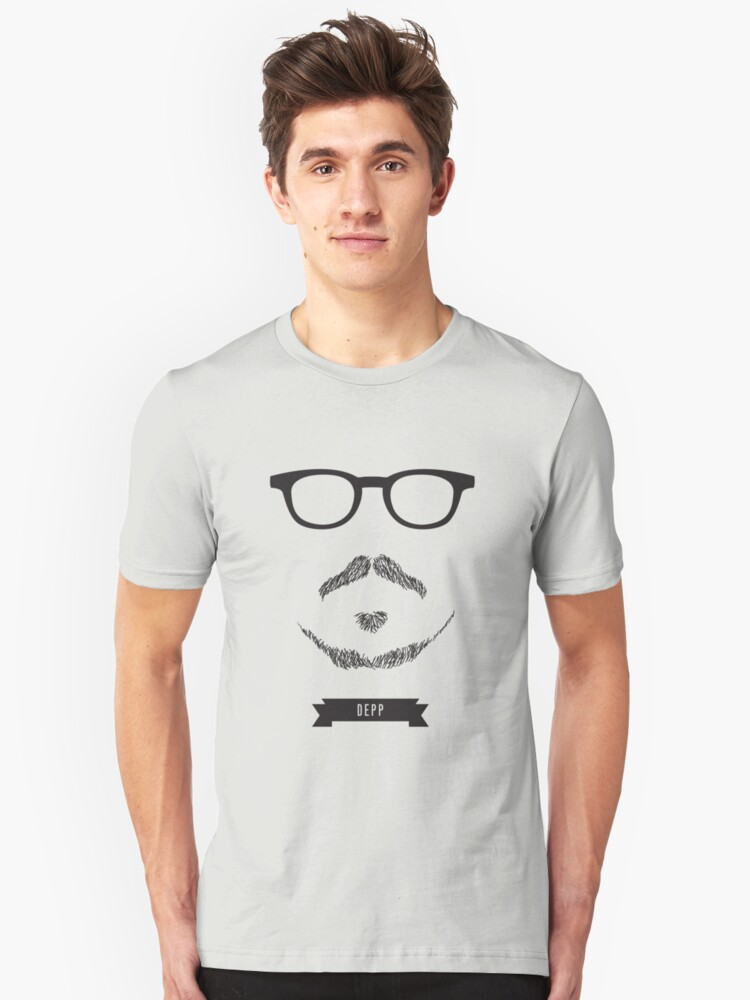 Beards with Glasses – Johnny Depp Unisex T-Shirt Front