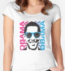 Cool Obama 2012 T Shirt Women's Fitted Scoop T-Shirt