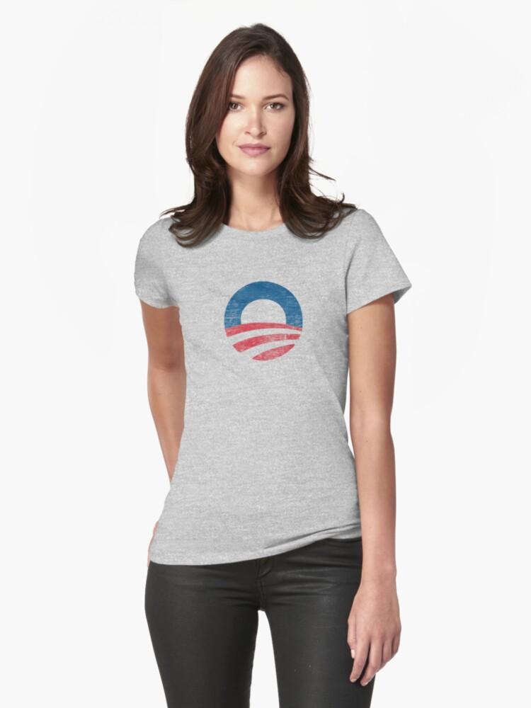 Retro Obama Logo Women's Shirt by ObamaShirt