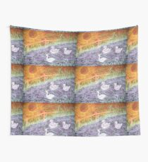 Duckling Adventure Wall Tapestry