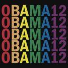 Obama Pride 2012 Retro Rainbow Women's Shirt by ObamaShirt